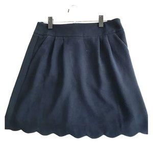 Navy Loft skirt (with pockets!)